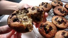 muffins de avena,platano y chocolate