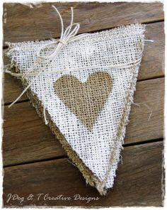 WHITE PAINTED BUNTING BURLAP HESSIAN SHABBY VINTAGE WEDDING BIRTHDAY BABY PARTY