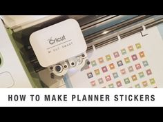 How To Create Planner Stickers with Cricut Explore and Cricut Design Space - YouTube