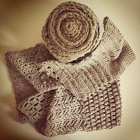 Crochet sampler scarf pattern