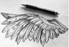 Woww this is fabulous! Tattoo Sketches, Tattoo Drawings, Body Art Tattoos, Art Sketches, Art Drawings, Lucifer Wings, Wings Drawing, Wing Tattoo Designs, Desenho Tattoo