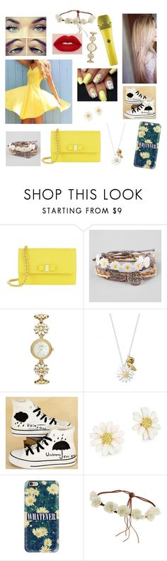 """Stitches. Top 8"" by em2me2000 ❤ liked on Polyvore featuring Salvatore Ferragamo, Full Tilt, Kate Spade, Daisy Jewellery, HVBAO, Casetify and Topshop"