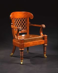 An Empire Mahogany Fauteuil De Bureau. Attributed to HENRI JACOB (MAÎTRE, 1779). France, Early 19th century.