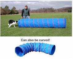 "Dog Tunnel or Open Tunnel for dogs WWW.affordableagility.com 9' Practice Tunnel (22""diameter) 89.95"
