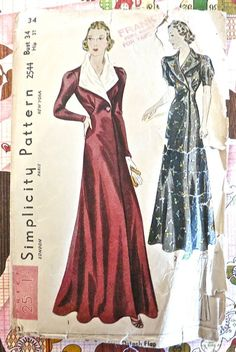 Simplicity 2544  Vintage 1930s Evening Wrap Pattern by Fragolina