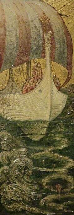 The Viking Ship by Andreas Duncan Carse - print Arte Viking, Viking Art, Vikings, Children's Book Illustration, Book Illustrations, Viking Longboat, Museum Poster, Viking Ship, Personalised Prints