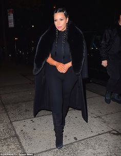 His support team:Kim Kardashian made sure she was looking sensational as she headed out in New York on Tuesday night to support her husband Kanye West at his album listening party at Electric Lady Studios