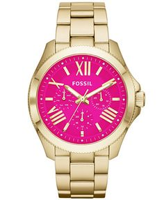 Fossil Women's Cecile Gold-Tone Stainless Steel Bracelet Watch 40mm AM4539