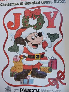 Paragon Needlecraft Walt Disney Characters Christmas In Counted Cross Stitch Charted Designs Needlework Rare Out of Print Holiday Patterns Disney Cross Stitch Patterns, Counted Cross Stitch Patterns, Disney Cross Stitches, Disney Christmas, Christmas Cross, Xmas, Etsy Christmas, Christmas Ornaments, Mickey Mouse