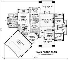 Bungalow Cottage Craftsman Tudor House Plan 42675 Level One