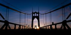 I want to take a photo like this myself someday soon!  St Johns Bridge Portland Or