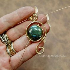 Eye of the Hurricane Wire Wrap Pendant Tutorial NEW Tutorial