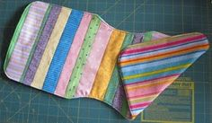 fabric strip burp cloth