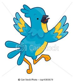 Stock Illustration - Cute Parrot - stock illustration, royalty free illustrations, stock clip art icon, stock clipart icons, logo, line art, pictures, graphic, graphics, drawing, drawings, artwork $5.00