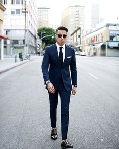 WEBSTA @ blakescott_ - A classic navy suits never goes out of style! #BlakeScott…