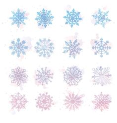 Watercolor snowflakes  star symbol graphic crystal vector by rommeo79 on VectorStock®