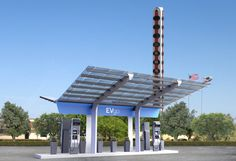 1st Non-Tesla High-Power EV Charging Station In USA!! Thanks, EVgo