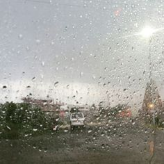 Long drive on a rainy day