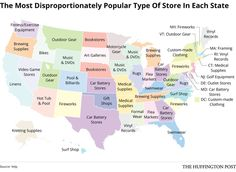Here's the most wildly popular type of store in each state