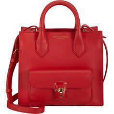 Balenciaga Padlock Mini All Afternoon ($1,295) ❤ liked on Polyvore featuring bags, handbags, balenciaga handbags, balenciaga purse, mini handbags, strap bag and miniature purse
