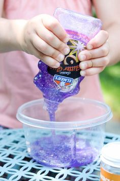 Mess Free Glitter Slime Recipe that's Safe for Kids | Kinder Craze | Bloglovin'