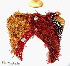 """ Őszi levél"" sál (kepibag) - Meska.hu Knitting, Fashion, Moda, Tricot, Fashion Styles, Breien, Stricken, Weaving, Knits"