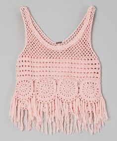 Crochet Flowers Design This groovy top brings a hippie-chic vibe to a gal's look, with its crocheted design and funky fringe. Its soft, cotton-blend construction slips on simply to create instant flower-child style. Bikini Crochet, Crochet Crop Top, Crochet Blouse, Crochet Lace Collar, Crochet Cover Up, Pull Crochet, Knit Crochet, Flower Child Style, Pinterest Crochet