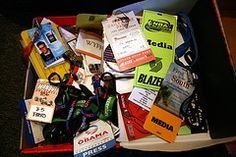 Lanyards and old media passes... (actually I have my old press passes in my scrapbooks ... not a junk drawer!)