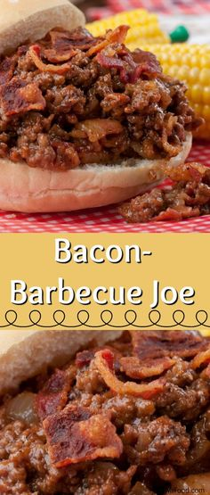 If you're looking for the best Sloppy Joe recipe, our Bacon Barbecue Joe's are the way to go! Instead of the same old Joe sauce, we kicked ours up a notch with a delicious barbecue flavor, and of course, that bold flavor of bacon! Best Sloppy Joe Recipe, Sloppy Joes Recipe, Entree Recipes, Cooking Recipes, Field Meals, Freezable Meals, Cheeseburger Recipe, Sammy, Bbq Bacon