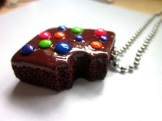 Brownie Necklaces Handmade Polymer Clay Charms by AGirlandHerClay, $13.00.Looks realistic and colourful