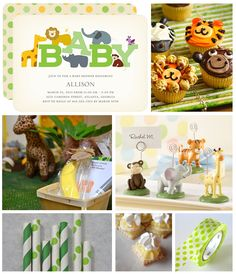 wildlife baby shower inspiration board