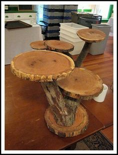 Base para pasteles de madera :: Wood cupcake stand