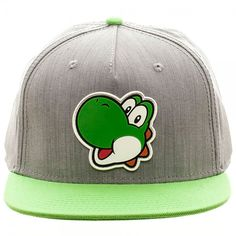 d2a4a13b1dd Take a look at this Super Mario Yoshi Rubber-Icon Snapback Baseball Cap -  Adult today!