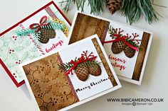 Pretty Pines Stampin' Up! VIDEO by Bibi Cameron for GDP #52