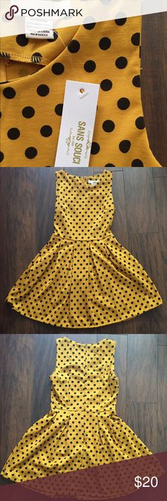 Sans souci yellow polka dot dress