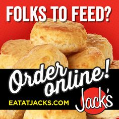 When you have folks to feed, Jack's has you covered for breakfast, lunch and dinner. Place an order online for your next  gathering or event. #bigorder #noproblem #FanFuel #eatatjacks