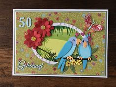 Marianne Design Cards, Diy And Crafts, Paper Crafts, Bird Cards, Making Ideas, Origami, Baby Kids, Card Making, Anniversary
