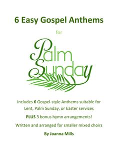Love this collection of 6 Easy Gospel Anthems for Palm Sunday, Lent, and Easter. Plus 3 bonus hymn arrangements! Perfect for my choir and a great deal! Sunday Song, Choir Songs, Upbeat Songs, Call And Response, Palm Sunday, Digital Sheet Music, Lent, Ranges, How To Introduce Yourself