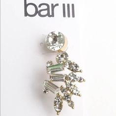 Ear CUFF Pave Crystlas earrings Z211 NWT. 10% Off when you purchase 2 or More Jewelry items. Bar III Jewelry Earrings