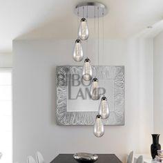 Lámpara Colgante de 6 Luces en Led Bathroom Hooks, Modern Ceiling Lights, Modern Lamps, Modern Ceiling, Pendant Chandelier, Houses, Lights