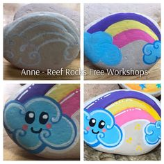 Baby Painting, Pebble Painting, Pebble Art, Stone Painting, Painted Pavers, Painted Rocks Craft, Hand Painted Rocks, Rock Painting Patterns, Rock Painting Ideas Easy