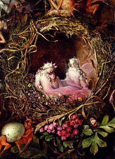 John Anster Fitzgerald, 'Fairies in a Bird's Nest'
