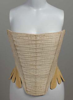 Stays | American; Massachusetts | 1740-1760 | silk, linen | Museum of Fine Arts, Boston | Accession #: 44.347