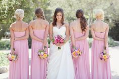 poses for wedding pictures | wedding poses / bmaids with bouquets Simply Bloom Photography