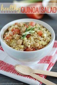 Healthy Quinoa Salad - Yummy Healthy Easy
