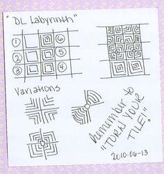 My original Zentangle tangle... DL Labyrinth