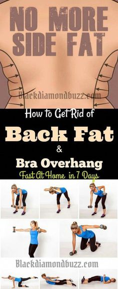 Best Exercises to get rid of back fat and bra overhang fast at home. The upper body workout will give you a perfect toned body and arm and your mid back roll will roll away in 7 days. diet workout back fat Fitness Workouts, Sport Fitness, Easy Workouts, Fitness Tips, Health Fitness, Workout Routines, Workout Tips, Workout Plans, Gym Routine