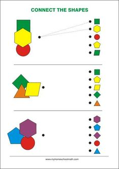 Connect the shapes - - Free printable Worksheet - Figur-Ground recognition / Observation / Visual Perception - Improving Focus, Concentration and Visual Attention before school Fun Worksheets For Kids, Free Printable Worksheets, Math For Kids, Preschool Worksheets, Free Printables, Preschool Learning Activities, Preschool Activities, Critical Thinking Activities, Visual Perceptual Activities