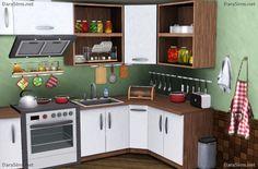 juego de cocina decoración Sims 3 por dara savelly