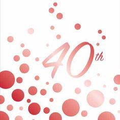 40th Anniversary Ruby Party Supplies and Decorations